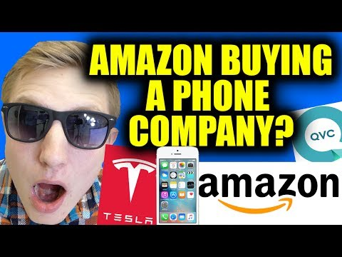 AMAZON BUYING A TV/PHONE COMPANY? APPLE LAWSUIT COULD BAN IPHONES - TESLA DOWN 20% - QVC & HSN!