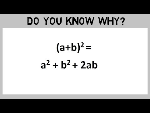 a+b whole square formula proof | Know why in Maths