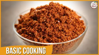 Kolhapuri Masala Powder | Spicy Kanda Lasun Masala | Recipe by Archana in Marathi | Basic Cooking
