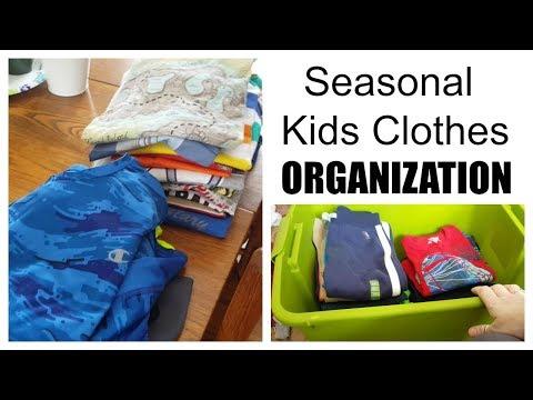 How to Organize Seasonal Kids Clothes