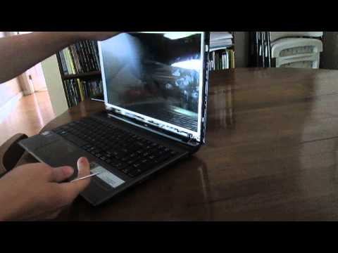 Laptop screen replacement / How to replace laptop screen Acer Aspire 5750Z-4835