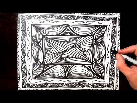 Sketching a Decorative Line Pattern Design Idea - Doodle 15
