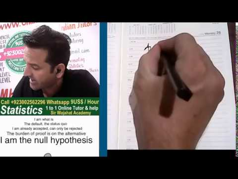 Null and Alternative Hypothesis Hindi / Urdu, Hypothesis Testing with Example, Sir Wajahat Academy