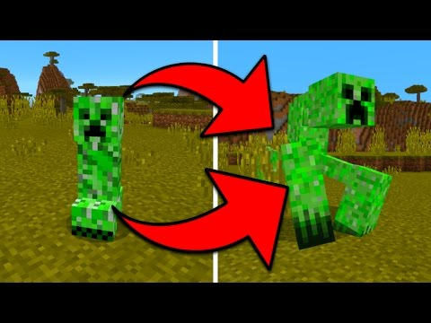 New Monster Mobs in Minecraft Pocket Edition (Mutant Creatures Addon)
