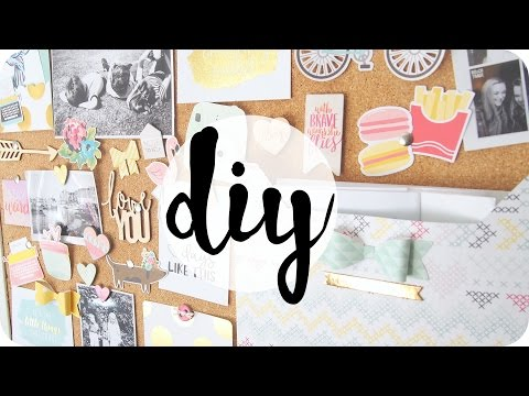 DIY | Cork board / Moodboard Decoration & Organisation