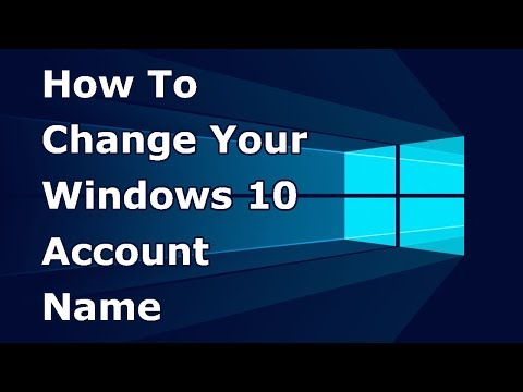 How to change your windows 10 account name