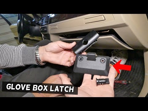 HOW TO REMOVE AND REPLACE GLOVE BOX HANDLE LATCH ON BMW E90 E92 E91 E93