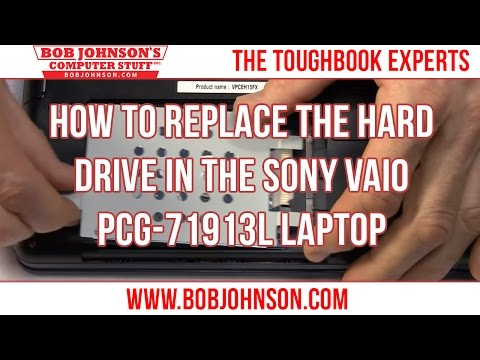 How to replace the Hard drive in the Sony Vaio PCG-71913L Laptop