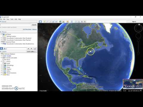 Groundwater Contamination  Google Earth Tutorial #3  Layers of Data