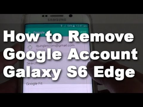 Samsung Galaxy S6 Edge: How to Remove a Google Account