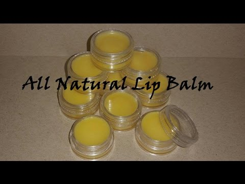 How to Make All Natural Lip Balm - DIY