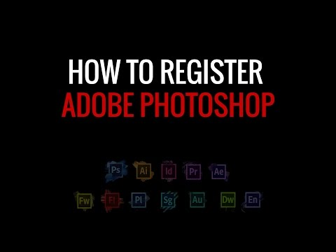 how to register photoshop