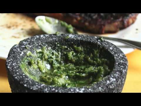 Food Wishes Recipes - Green Sauce Recipe - Salsa Verde - Raw Green Garlic and Herb Sauce