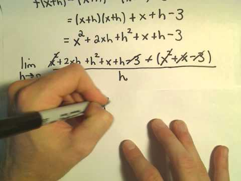 Derivative Using the Definition, Example 2