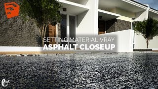 How to setting vray material Asphalt sketchup - Tutorial Sketchup || Free Texture