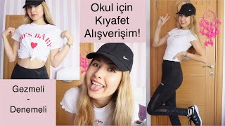 OKULA DÖNÜŞ KIYAFET ALIŞVERİŞİM! (back to school clothing haul 2019) -Elif AY