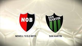 Fútbol en vivo. Newell's vs. San Martín SJ. Fecha 14. Torneo de Primera División 2016/2017. FPT