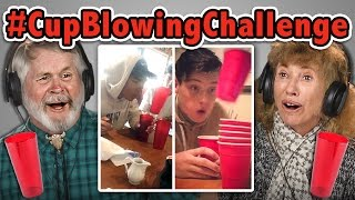 ELDERS REACT TO CUP BLOWING CHALLENGE (#CupBlowingChallenge)