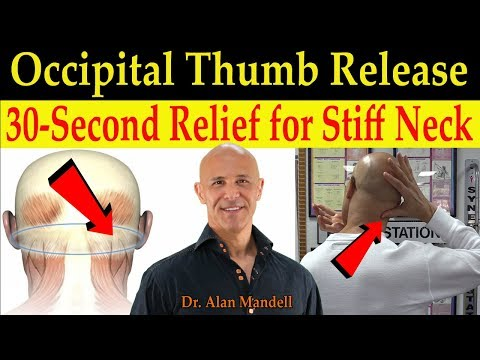 30-Second Occipital Thumb Relief Technique for a Stiff Neck (Instant Release) - Dr Mandell, DC