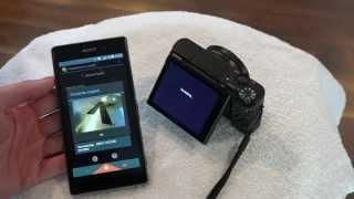 Sony DSCRX100m3 NFC Photo Transfer & Smart Remote via the Playmemories Mobile App