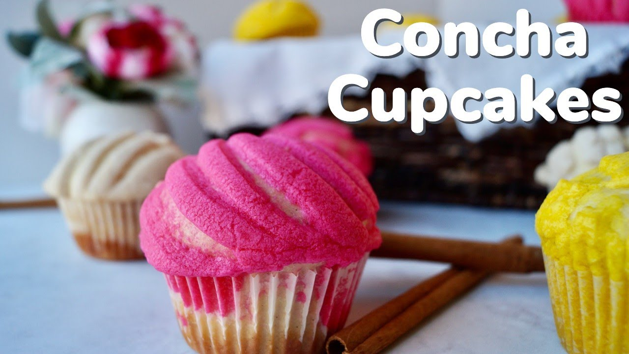 Concha Cupcakes