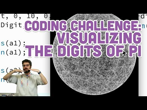 Coding Challenge #96: Visualizing the Digits of Pi