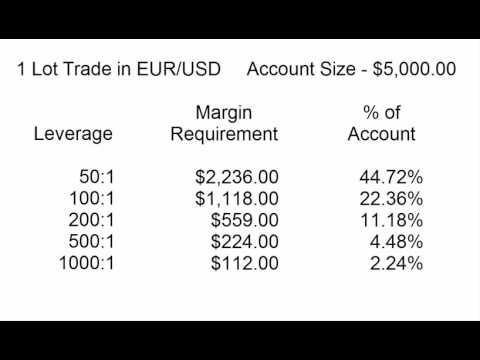 Forex Leverage, Margin Requirements & Trade Size