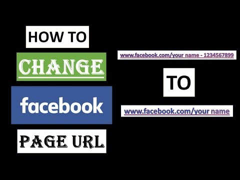 How to Change Facebook Page URL | Facebook Page Custom URL | 2018