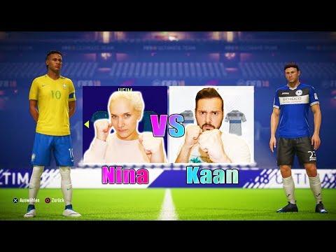 KAAN vs NINA IM FIFA 18 BATTLE! Das 1. Mal gegeneinander! Wer wird gewinnen? Kaan gegen Neymar & Co.