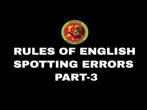 Rules of English Language - Part 3