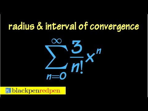 Radius and interval of convergence of a power series, using ratio test, ex#4