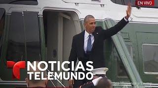 La familia Obama se despide de la Casa Blanca | Noticiero | Noticias Telemundo