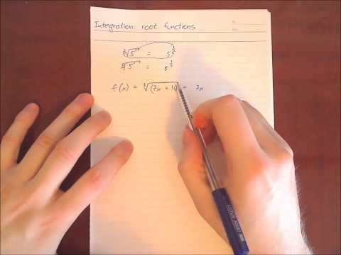 Integration of Root Functions