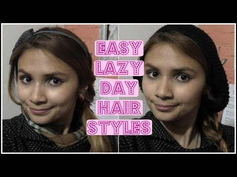 2 Easy Lazy Day Hair Styles   Laura Lanny