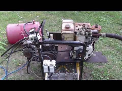 Homemade Air compressor, Generator, Arc welder