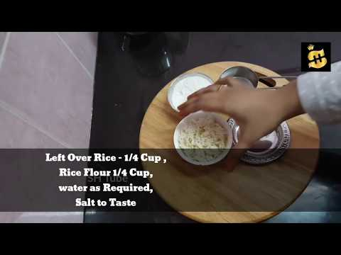 Rice Tortillas | Rice Roti Using Cooked Rice - No oil | Gluten Free | Vegan Friendly | Healthy Food