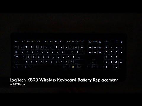 Logitech K800 Wireless Keyboard Battery Replacement
