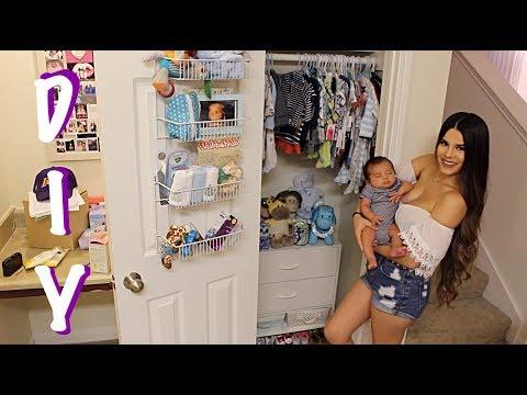 Day Vlog + D.I.Y Transforming Normal Closet Into Baby Closet !!