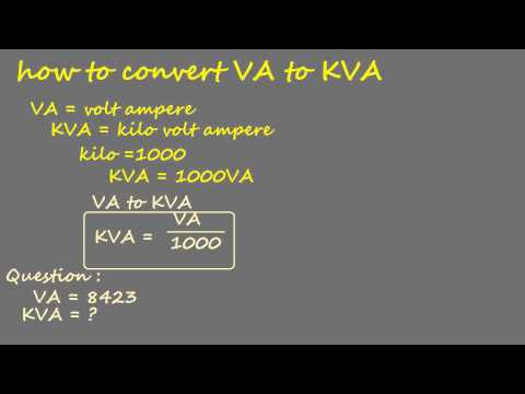 how to convert volt ampere to kilo volt ampere- electrical calculation
