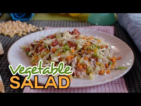 Vegetable salad with corn | Easy Recipe for lunch | Yummy Nepali Kitchen