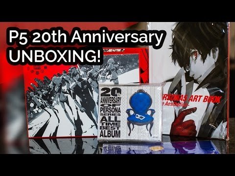 UNBOXING! Atlus Persona 5 P5 20th Anniversary Edition PS4 Game JP