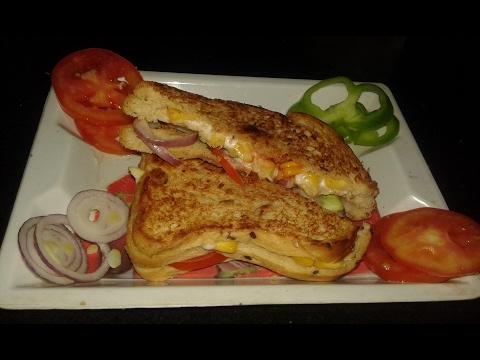 Sweet Corn Sandwich Recipe-Corn Mayo Cheese Sandwich-Veg Mayo Sandwich-Full Recipe