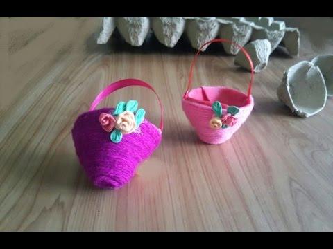 Cute baskets from Egg carton