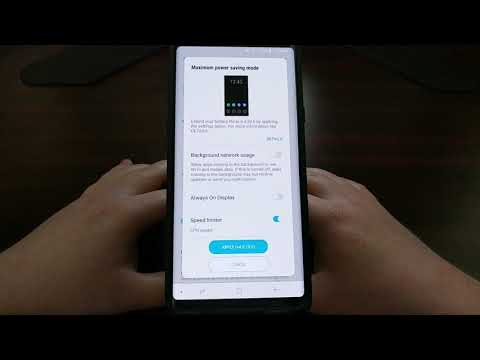 Galaxy Note 9 | Enabling Battery Saving Mode
