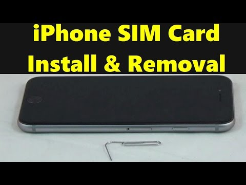 iPhone SIM Card Install / Remove - Apple iPhone 7, 7 Plus, iPhone 6, 6 Plus & 5 With Paper Clip