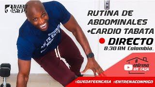 #QuedateEncasa RUTINA DE ABDOMINALES + CARDIO TABATA #EntrenaConmigo