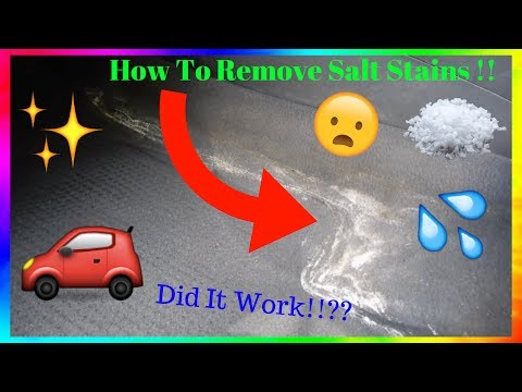 How To Remove Salt Stains From Car 🚗❄️