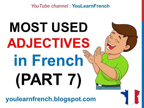 French Lesson 247 - 100 Most common ADJECTIVES in French PART 7 Most used descriptive adjectives
