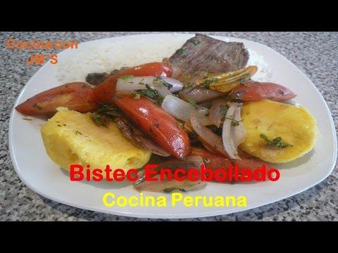 BISTEC ENCEBOLLADO – RECETAS – COCINA PERUANA