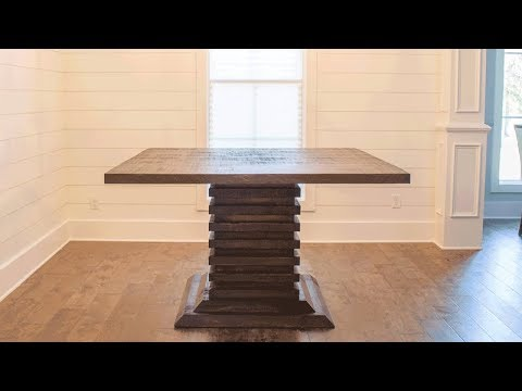 DIY Bar Height Dining Room Table! | Woodbrew Workshop